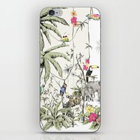 jungle iPhone & iPod Skins featuring Jungle by Annet Weelink Design