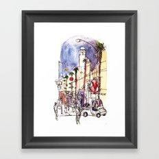 Third Street Promenade, Santa Monica California Framed Art Print