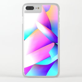 Vertex 01. Design generated by Frizzle App Clear iPhone Case