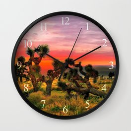 Sunset at Joshua Tree National Park, California, USA Wall Clock