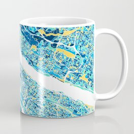 New York City Map United states full color Coffee Mug