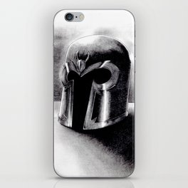 Magneto helmet iPhone Skin