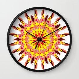vintage sunflower mandala Wall Clock