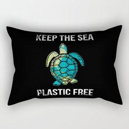 Turtle Animal Rights Activists Rectangular Pillow