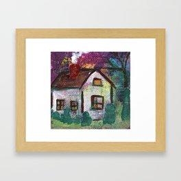 House at Dusk Framed Art Print