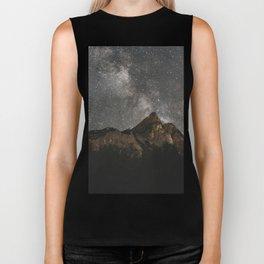 Milky Way Over Mountains - Landscape Photography Biker Tank