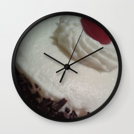 Decadent Black Forest Cake Wall Clock
