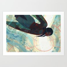 The Spire Below Art Print