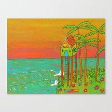 Surf Paradise Dream Home House on Stilts Canvas Print
