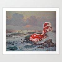 thegnarledbranch Art Prints featuring Point Steak by TheGnarledBranch
