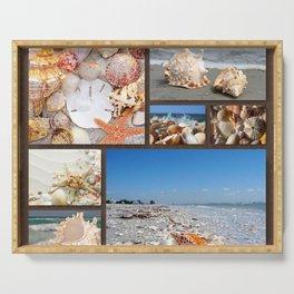 Seashell Treasures From The Sea Serving Tray