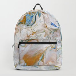 Abstract modern marbel wavy painting pattern Backpack