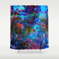 apollo Shower Curtains featuring Apollo by Peta Herbert