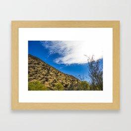 Clouds Stretching Across a Deep Blue Sky in the Anza Borrego Desert, California, USA Framed Art Print