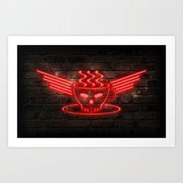 Barista Core Neon Art Print