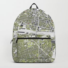 Munich city map engraving Backpack