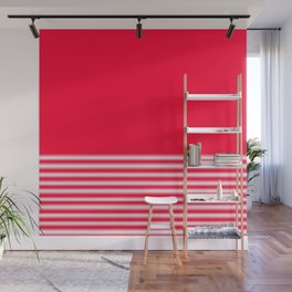 Red Gradient Stripe Wall Mural