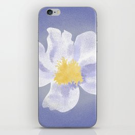 Peony on Blue iPhone Skin