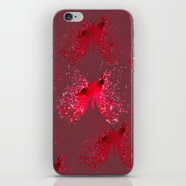 Vectorized red butterfly iPhone Skin
