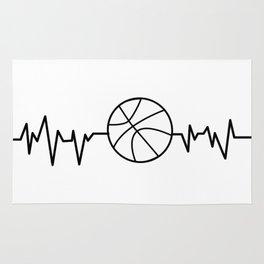 Heartbeat Basketball Sport Gift Rug