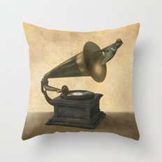 Vintage Songbird Throw Pillow