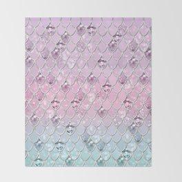 Mermaid Princess Glitter Scales #1 #shiny #pastel #decor #art #society6 Throw Blanket