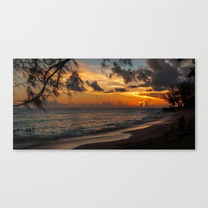 Sunset on Paradise Canvas Print