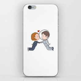 Space Nerds in Love iPhone Skin