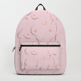 Breasts in Millennial Pink Backpack