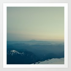 St Helens from Rainier Art Print