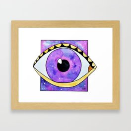 Galaxy eye square Framed Art Print