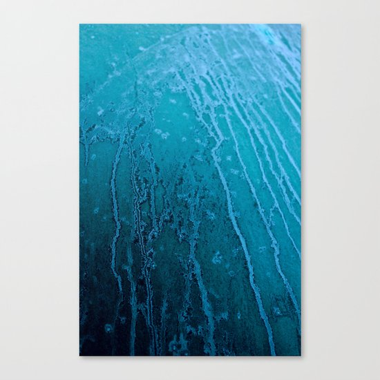 Frozen Lines Canvas Print
