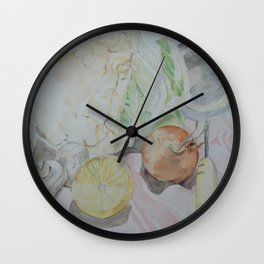 Vegetable kitchen ingredients Wall Clock