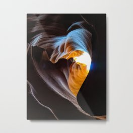 The Heart of Antelope Canyon Metal Print