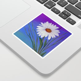 White daisy -2 Sticker