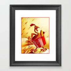 Bucket of Chicken Framed Art Print