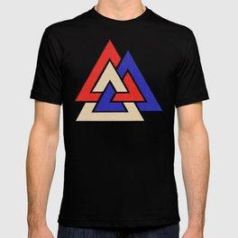 Viking American Heathen 4th of July Valknut T-shirt