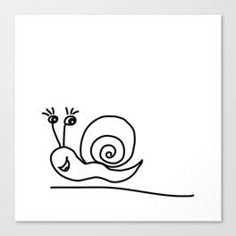Funny Little Snail Canvas Print