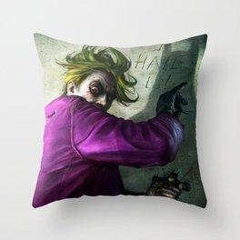 The Joke Throw Pillow