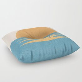 Sunrise Geometric - Midcentury Style Floor Pillow