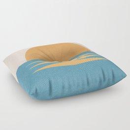 Sunrise Geometric - Midcentury Style Floor Pillow
