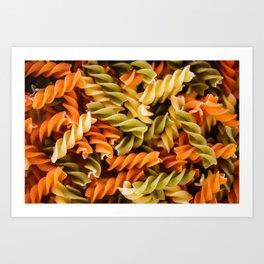Pasta Noodles Pattern (Color) Art Print