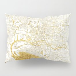 Melbourne Map Gold Pillow Sham