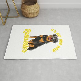 Funny Rottweiler Sayings for Rottie Moms and Rottie Dads T-Shirt Rug