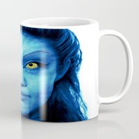 angelina jolie Mugs featuring Angelina Jolie Avatar by Amber Galore Design