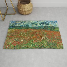 Vincent Van Gogh Poppy Field Rug