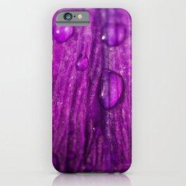 Dew drops on Purple Flower iPhone Case