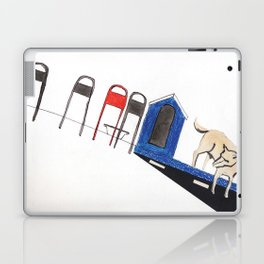 blue dog house Laptop & iPad Skin