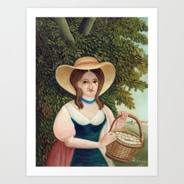 Henri Rousseau - Woman with Basket of Eggs Art Print