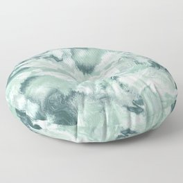 Marble Mist Green Grey Floor Pillow